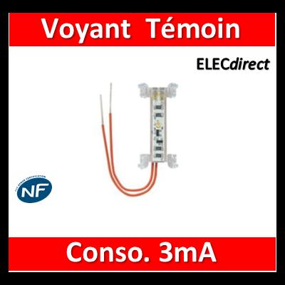 Legrand Niloé - Lampe Témoin - Consommation 3mA - 230V - Blanc - 665091