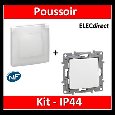 Legrand Niloé - Poussoir - Kit IP44 - étanche à l'air - 664725+665000