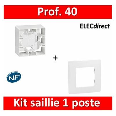 Legrand Niloé - Cadre saillie 1 poste + plaque - 664798+665001