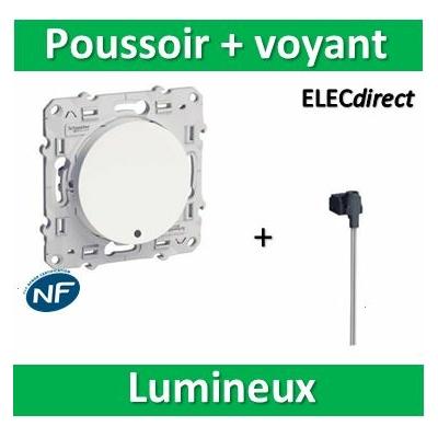Schneider Odace - Bouton poussoir lumineux LED bleu - 10A - 250V - s520276