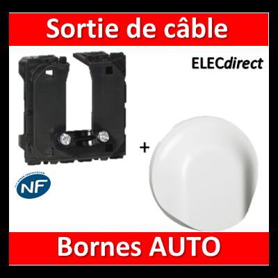Legrand Céliane - Mécanisme + enjoliveur Sortie de câble - 067181+068141