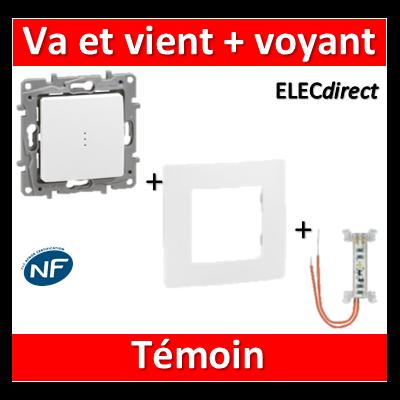 Legrand Niloé - Va et Vient 10A + voyant témoin - complet - 664710+665091+665001