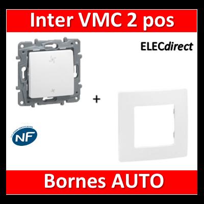 Legrand Niloé - Commande VMC 2 POS + plaque Blanc - 664791+665001