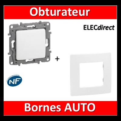 Legrand Niloé - Obturateur + plaque Blanc - 665196+665001