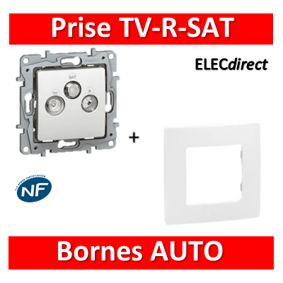 Legrand Niloé - Prise TV/R/SAT blindée + plaque Blanc - 664763+665001