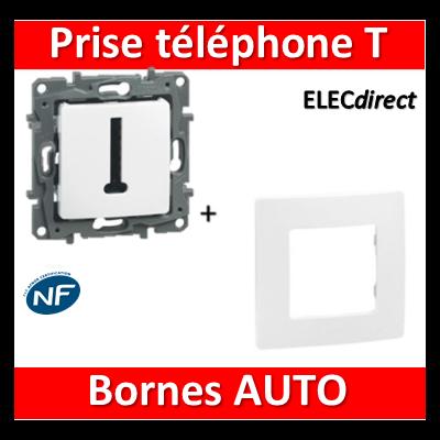 Legrand Niloé - Prise Téléphone T + plaque Blanc - 664768+665001