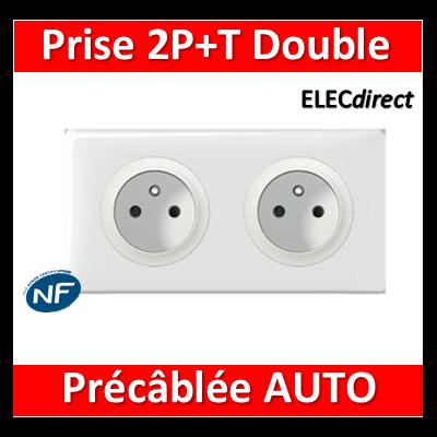 Legrand Céliane - PC Double 2P+T 16A - Standard - Précâblée - complet