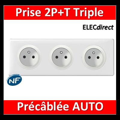 Legrand Céliane - PC Triple 2P+T 16A - Standard - Précâblée - complet
