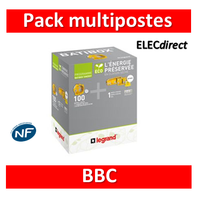 Legrand Batibox - LOT PROS - Pack multipostes BBC - 080021x20+..22x10+..23x5