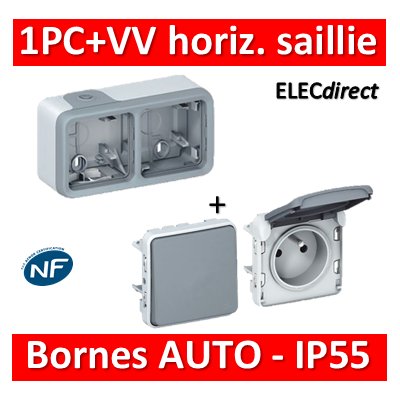 Legrand Plexo - PC + VV - 230V - horizontal - IP55/IK07 - 069672+069511+069551