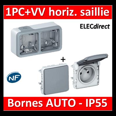 Legrand Plexo - PC + VV - 230V - horizontal - IP55/IK07 - 069672+069511+069551