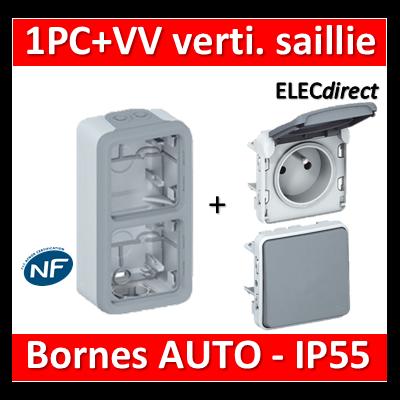 Legrand Plexo - PC + VV - 230V - vertical - IP55/IK07 - 069661+069511+069551