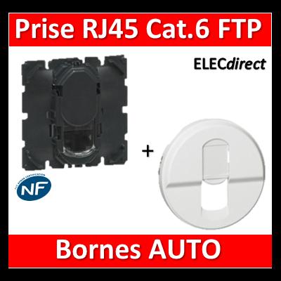Legrand Céliane - Mécanisme + enjoliveur Prise RJ45 FTP Cat. 6 - 067345+068237