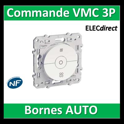 Schneider Odace - Interrupteur VMC avec position arrêt - s520243