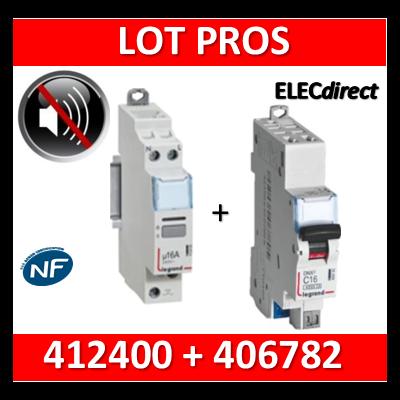 Legrand - Télérupteur CX3 silencieux unipolaire 16A - 230V + disjoncteur 10A DNX3 AUTO - 412400+406782