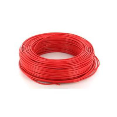Câble HO7VR 6 mm2 rigide - Rouge - vendu au m.