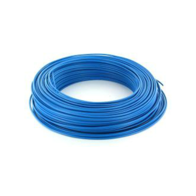 Câble HO7VR 6 mm2 rigide - Bleu - vendu au m.