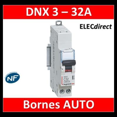 DISJONCTEUR LEGRAND DNX3 PH/N 32A - AUTO/VIS - 406786