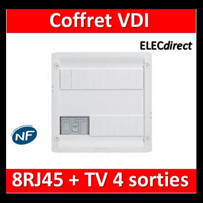 Legrand - Coffret VDI GRADE 1 et 2 avec brassage - 8 RJ45 - 413219