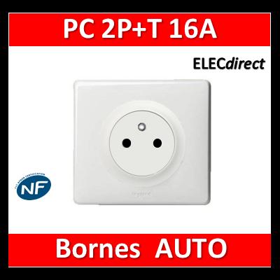 Legrand Céliane - PC 2P + T 16A - Affleurante - complet blanc 1 poste