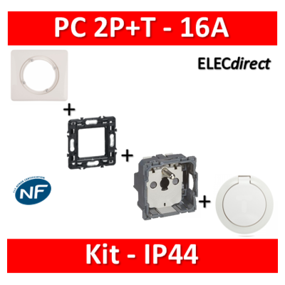 Legrand Céliane - Kit IP44 - Prise 2P+T 16A - complet