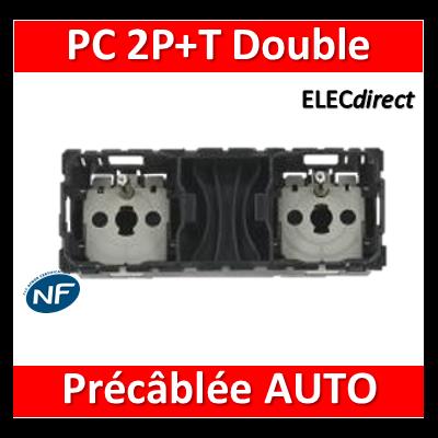 Legrand Céliane - Mécanisme Double PC 2P+T 16A - Précâblée - 067124