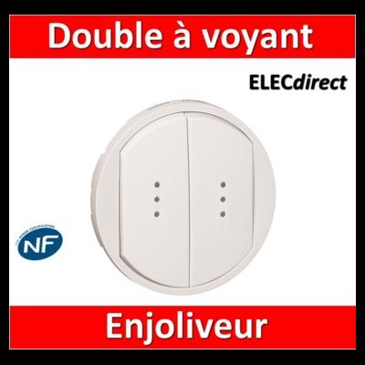 Legrand Céliane - Enjoliveur double allumage voyant blanc - 068004