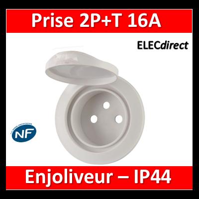 Legrand Céliane - Enjoliveur PC 2P+T blanc - IP44 - 067812