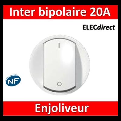 Legrand Céliane - Enjoliveur interrupteur bipolaire 20A blanc - 068021