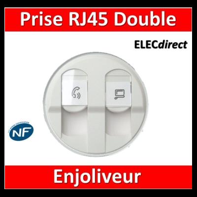 Legrand Céliane - Enjoliveur Double RJ45 blanc - 068252