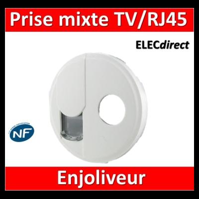 Legrand Céliane - Enjoliveur Prise mixte TV/RJ45 - 068239