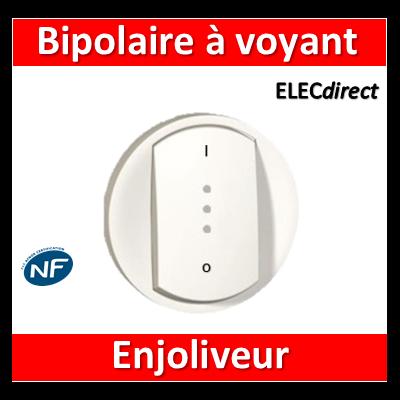 Legrand Céliane - Enjoliveur interrupteur bipolaire 20A à voyant blanc - 068023