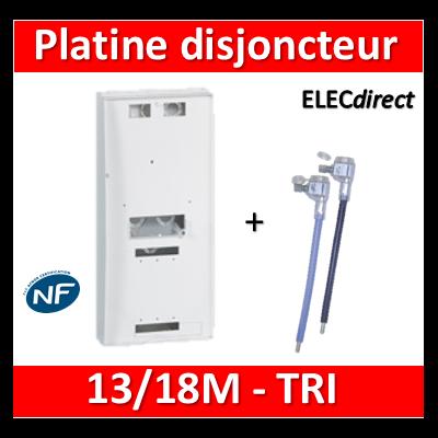 Legrand - Platine pour Disjoncteur branchement + Compteur - TRI - DRIVIA 13M et 18M - 401184