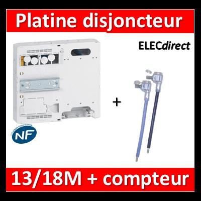 Legrand - Platine pour Disjoncteur branchement + Compteur - DRIVIA 13M et 18M - 401181