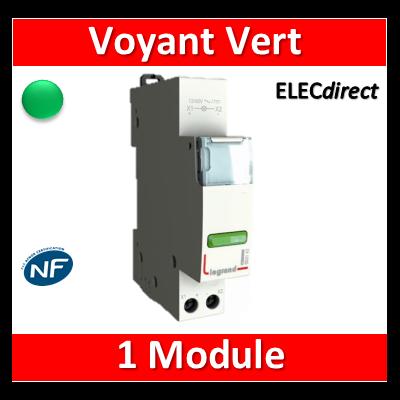 Legrand - Voyant vert 250V - LED - 412926