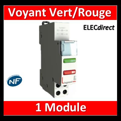 Legrand - Voyant Vert/rouge 250V - LED -  412931