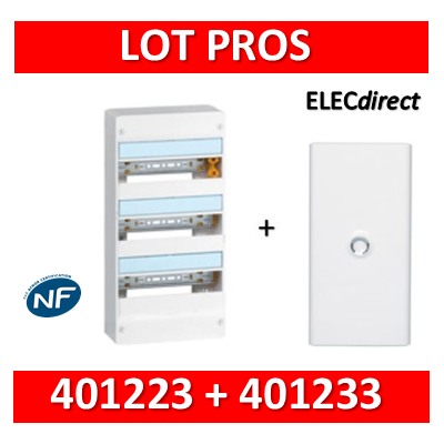 Legrand - LOT PROS - Coffret DRIVIA 54 Modules + porte - largeur 355mm - 401223+401233