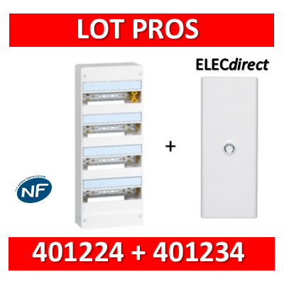 Legrand - LOT PROS - Coffret DRIVIA  72 Modules + porte - largeur 355mm - 401224+401234