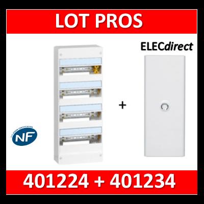 Legrand - LOT PROS - Coffret DRIVIA  72 Modules + porte - 401224+401234