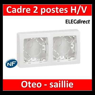 Legrand Oteo - Cadre saillie 2 postes - 086092