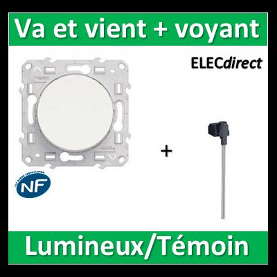 Schneider Odace - Va-et-Vient lumineux/Témoin LED orange - 10A - 250V - s520263