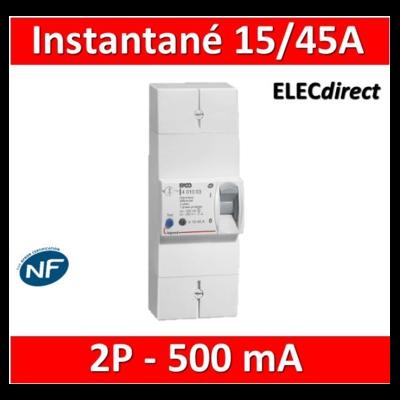 Legrand - Disjoncteur de branchement EDF - bipolaire - 15/45A instantané - 500MA - 401000