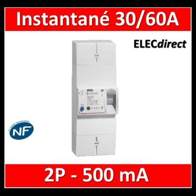 Legrand - Disjoncteur de branchement EDF - bipolaire - 30/60A instantané - 500MA - 401001