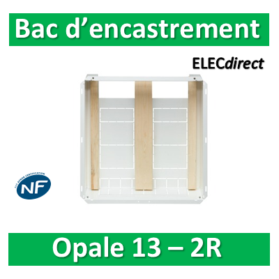 Schneider - Opale - Bac encastrement 2x13 Modules H. 765mm - OPL13293