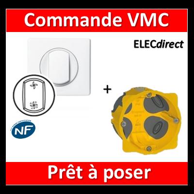 Legrand Céliane - Prêt à poser - Commande VMC complet + boîte batibox 1 poste BBC