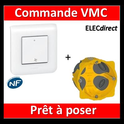 Legrand Mosaic - Prêt à poser - Commande VMC complet + boîte batibox 1 poste BBC