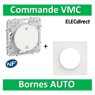 Schneider Odace - Commande VMC + plaque - complet - s520233+s520702