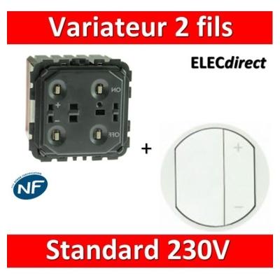 Legrand Céliane - Mécanisme + enjoliveur Variateur 2 fils standard - 067082+065083