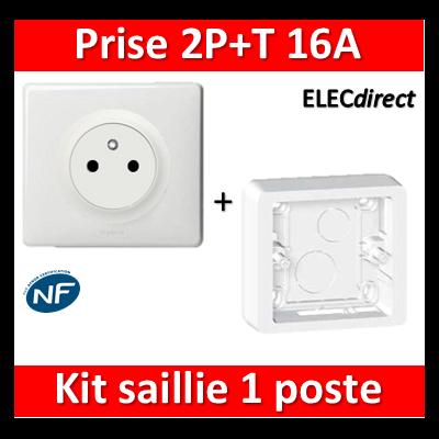 Legrand Céliane - Prise 2P+T 16A saillie complet 1 poste