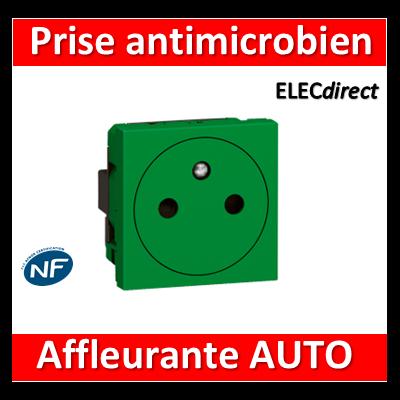 Legrand Mosaic - Prise 2P+T vert antimicrobien 16A - 230V - 078704